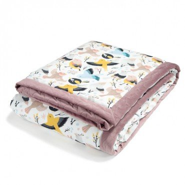 LA MILLOU KOC, NARZUTA 140x200cm CUTE BIRDS LAVENDER VELVET COLLECTION