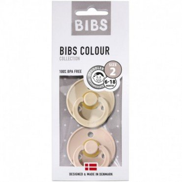 BIBS-PACK 2 M VANILLA & BLUSH soother Hevea rubber