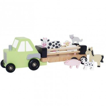 Jabadabado Wooden tractor with animals