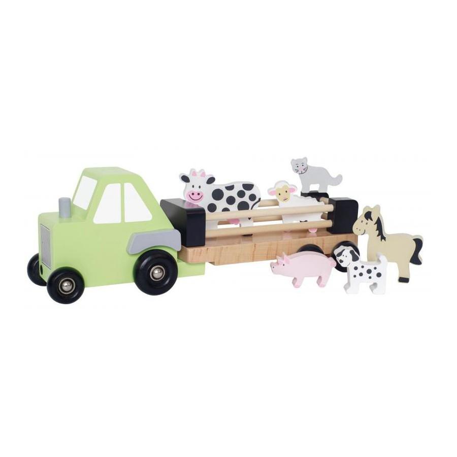 Jabadabado Drewniany traktor ze zwierzętami