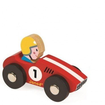Janod, wooden racer red racer