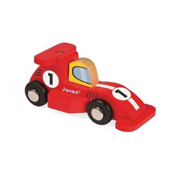 Janod, wooden Formula1 racer red