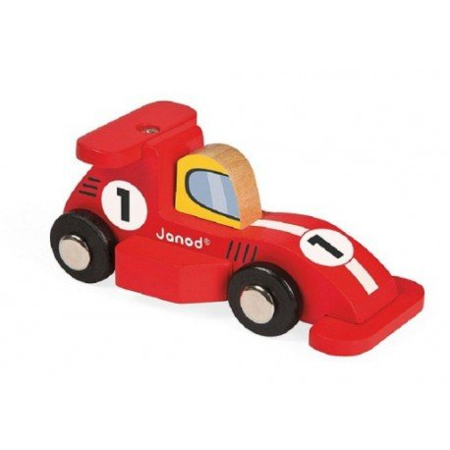 Janod, Wyścigówka drewniana Formuła1 czerwona