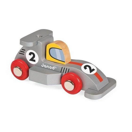 Janod, Wyścigówka drewniana Formuła1 srebrna
