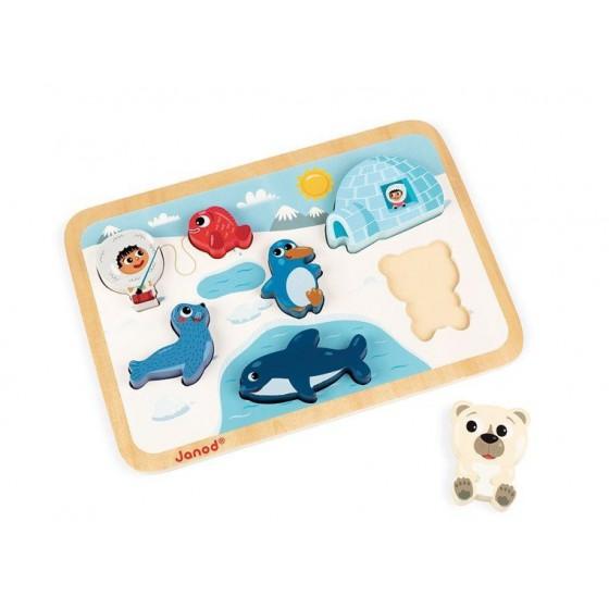 JANOD Wooden puzzles 3D Arctic