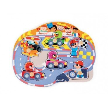 Janod wooden puzzle Cheerful Race