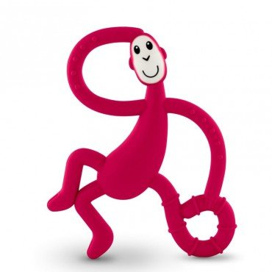 Matchstick Monkey Dancing Red Terapeutyczny Gryzak Masujacy ze Szczoteczka