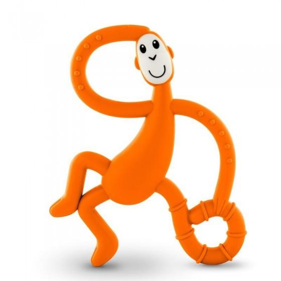 Matchstick Monkey Dancing Orange Terapeutyczny Gryzak Masujacy ze Szczoteczka