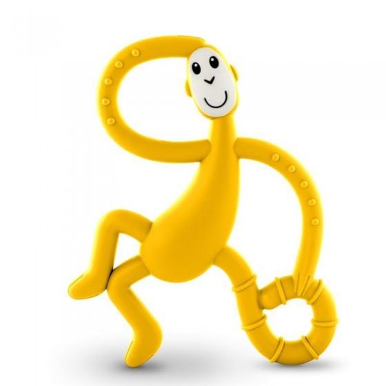 Matchstick Monkey Dancing Yellow Terapeutyczny Gryzak Masujacy ze Szczoteczka