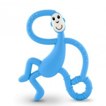 Matchstick Monkey Dancing Light Blue therapeutic massage Teether with Toothbrush