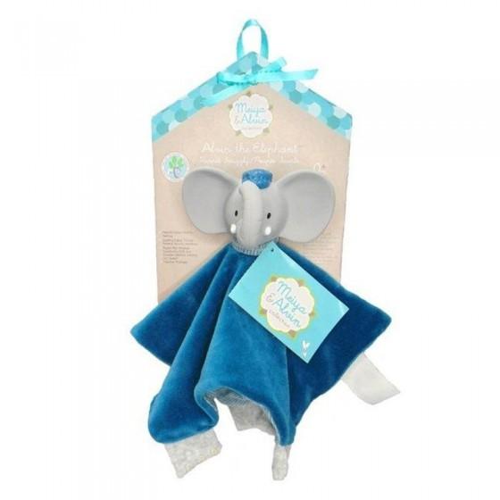 Meiya & Alvin - Alvin Elephant Snuggly Comforter with Organic Teether Head