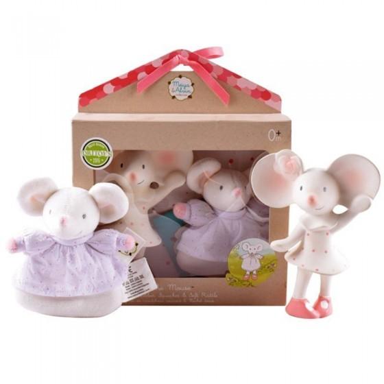Meiya & Alvin - Meiya Rubber Babyshower Organic Mouse Set