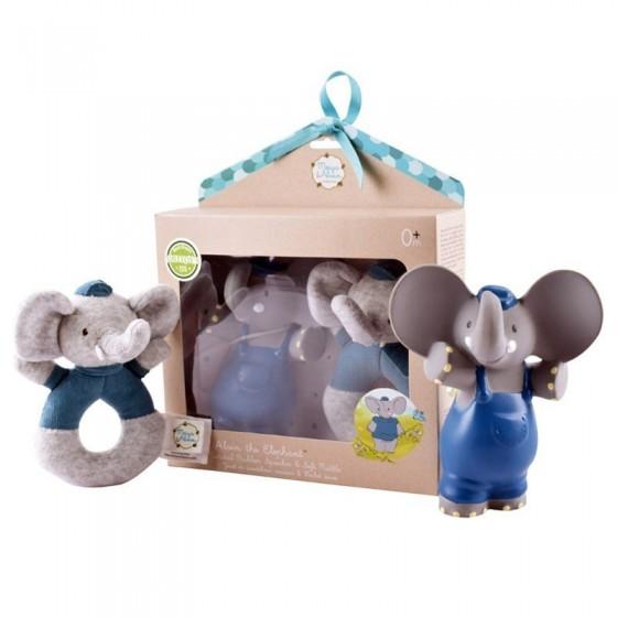 Meiya & Alvin - Alvin Elephant Organic Rubber Babyshower Set