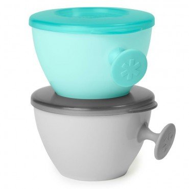 Skip Hop bowls Easy set-GrabGrey / Soft Teal