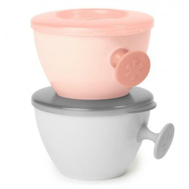 Skip Hop Kit bowls Easy-Grab Gray / Soft Coral