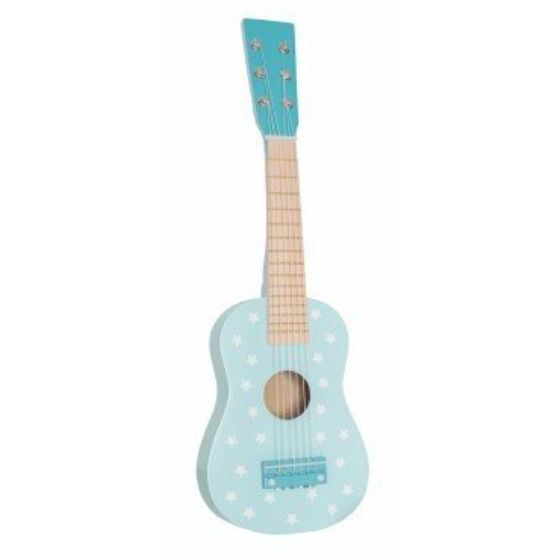 Jabadabado Drewniana gitara pastelowy niebieski