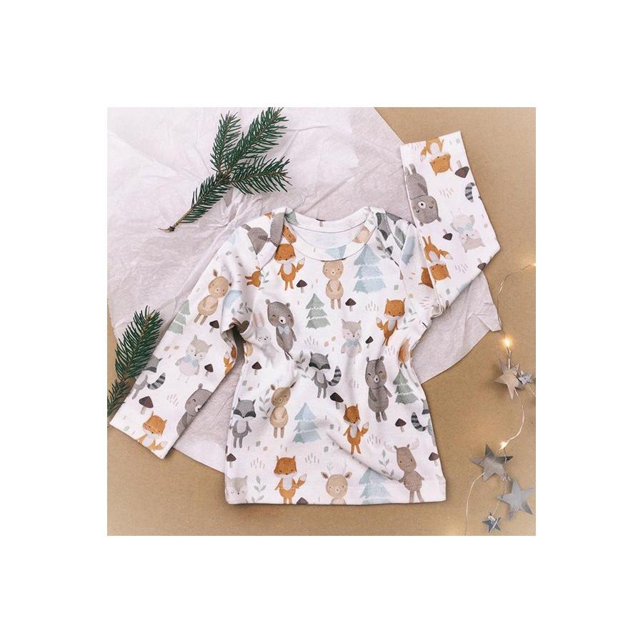 ColorStories - Bluzka niemowlęca - Woodland Grey 62cm