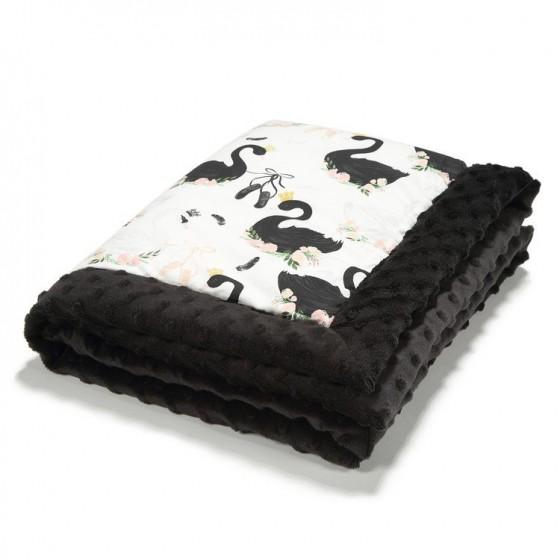LA baby blanket Millou MOONLIGHT BLACK SWAN