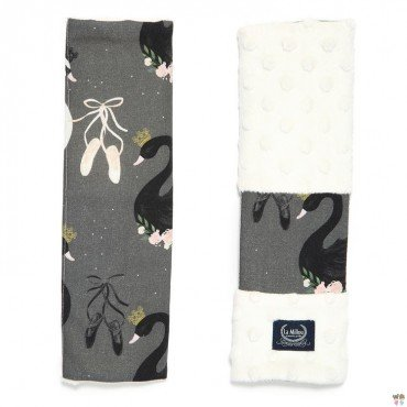 La Millou SEATBELT COVER - MOONLIGHT SWAN - BLACK