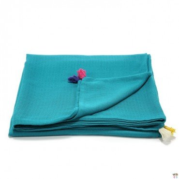 LA Millou muslin blanket S EMERALD FIRST TOUCH