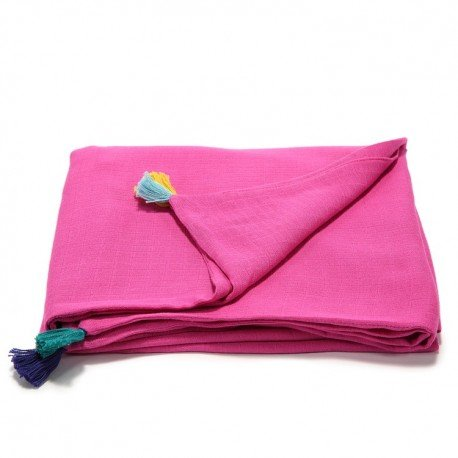 LA Millou muslin blanket FIRST TOUCH M AMARANT