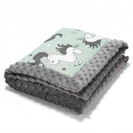 LA Millou BY MAY Bohosiewicz baby blanket UNICORN-GRAY KNIGHT