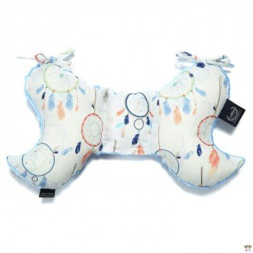La Millou ANTISHAKE PILLOW ANGEL''S WINGS - DREAMCATCHER WHITE - SKY
