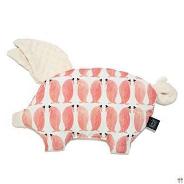 LA Millou pillow PENGUIN SLEEPY PIG PEPE ECRU