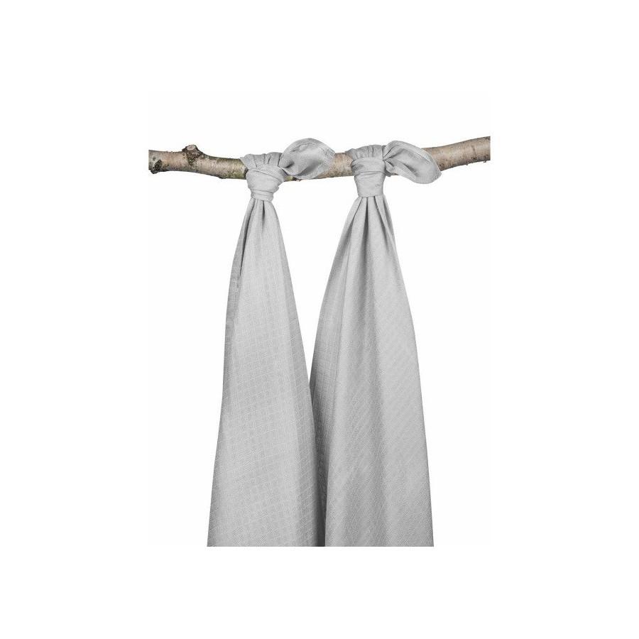 Large bamboo Jollein otulacz 115x115cm Gray 2 pieces