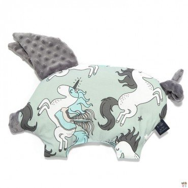 LA MILLOU PODUSIA SLEEPY PIG UNICORN RAINBOW KNIGHT GREY BY MAJA BOHOSIEWICZ