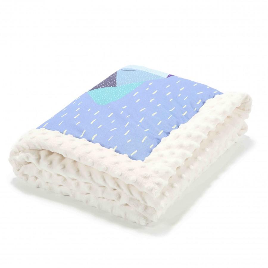 LA baby blanket Millou Wolfie-ECRU