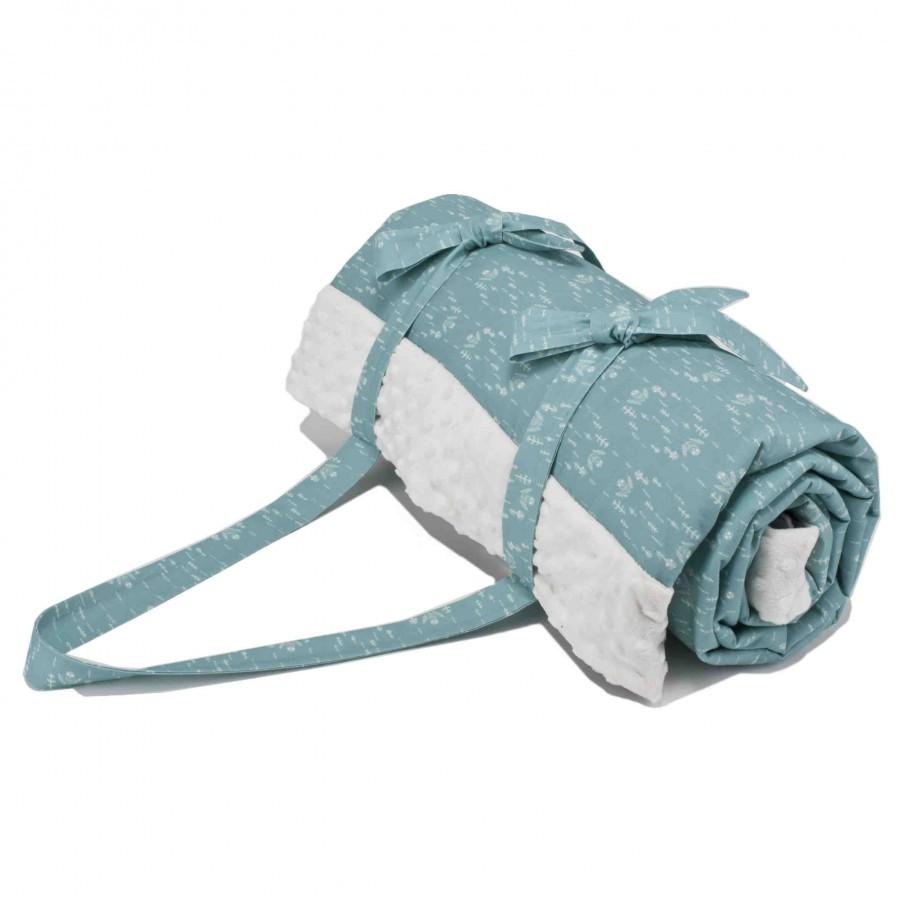 La Millou Blanket Picnic Mat White Plum Ecru