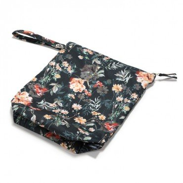 LA MILLOU WATERPROOF TRAVEL BAG M BLOOMING BOUTIQUE NOIR