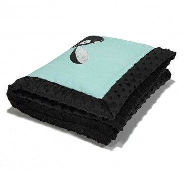 LA baby blanket Millou FOLLOW ME BLACK