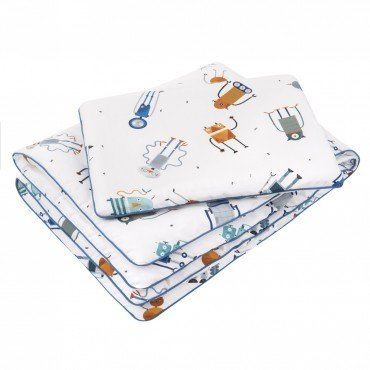Samiboo - WORKS Pillowcases for bedding 135x100 cm / 40x60 cm