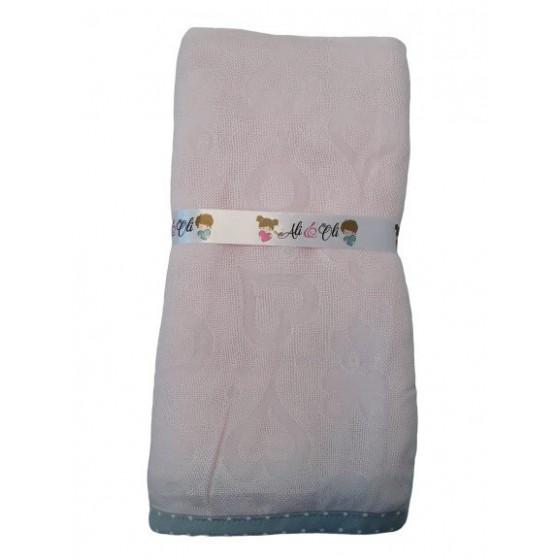 LULLALOVE blanket OTULACZ BAMBOO JUNIOR Róz