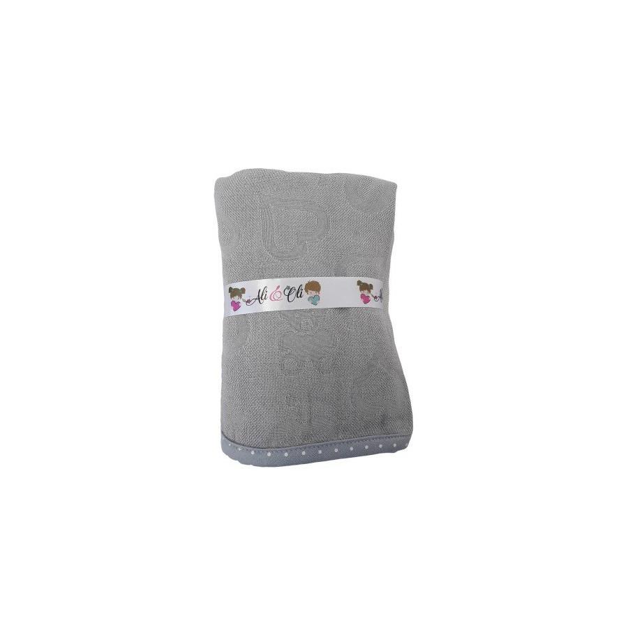 LULLALOVE OTULACZ Blanket NEWBORN GRAY BAMBOO