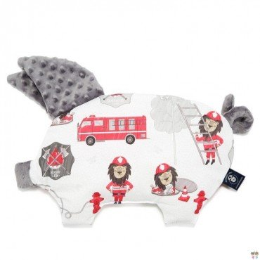 LA Millou BY MACIEJ Zakościelny pillow SLEEPY PIG BRAVEHEART LION GRAY GRAY