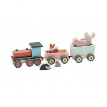Kids Concept Edvin Wooden Animal Train