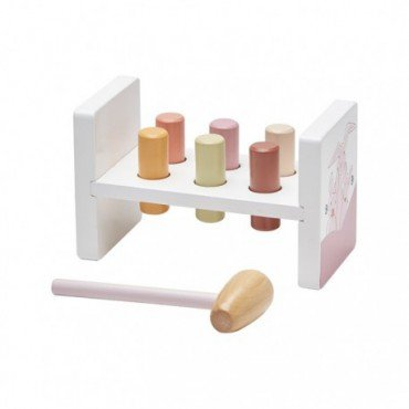 Kids Concept Edvin blocks with a hammer Pink