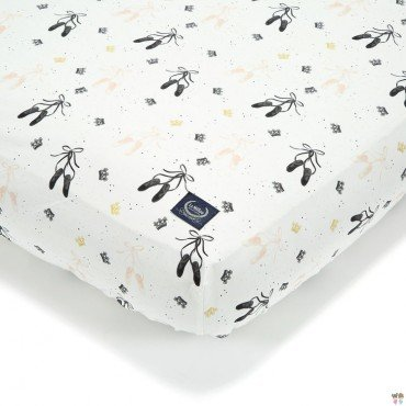 La Millou BED SHEET GOOD NIGHT 70 x 140 cm - SWAN LAKE
