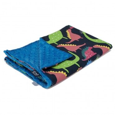 La Millou średniaka 80x100 Blanket Light Blue Dino