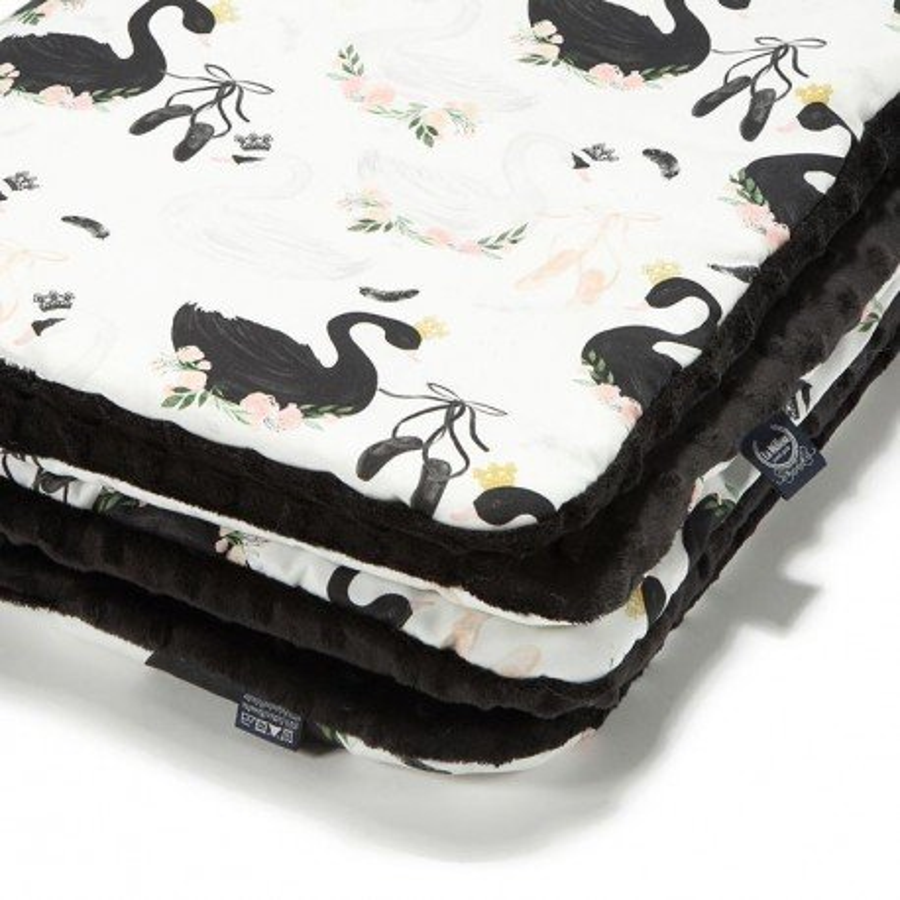 LA Millou blanket Kilkenny MOONLIGHT BLACK SWAN