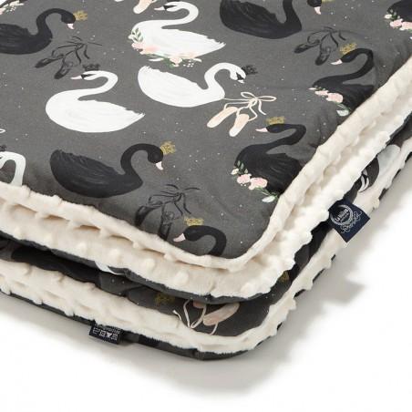 LA Millou blanket Kilkenny ECRU BLACK SWAN