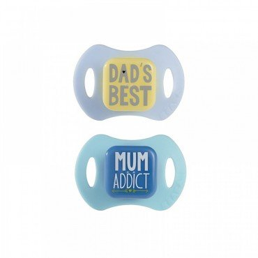 Beaba set of orthodontic pacifiers 2 pcs. 6-12m blue