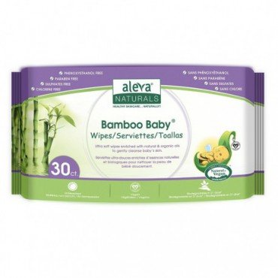 Aleva Bamboo Wipes 30 pcs Travel