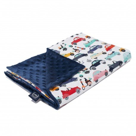 LA Millou blanket KINDERGARTNER LIGHT - LA MOBILE - NAVY