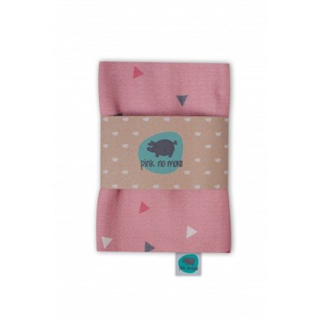 PINK NO MORE OTULACZ muslin TRIANGLE PINK