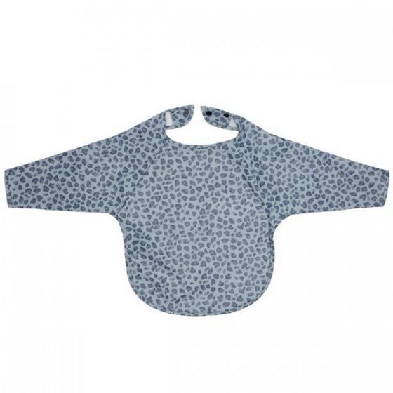 Bebe-Jou Śliniak z długim rękawem Leopard Blue