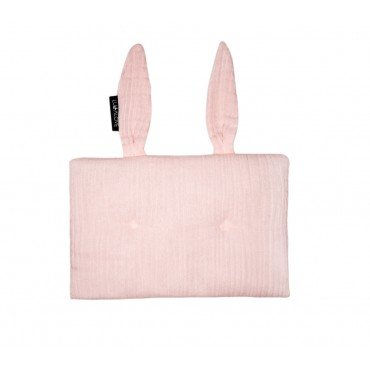 LULLALOVE muslin RABBIT PILLOW ROSE